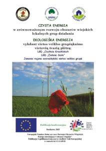 Okładka folderu Czysta Energia w Zrównoważonym Rozwoju Obszarów Wiejskich