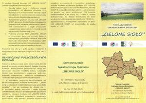 Ulotka Stowarzyszenie Lokalna Grupa Działania Zielone Sioło