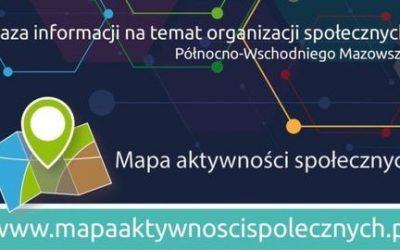 """Organizacje pozarządowe z obszaru LGD """"ZIELONE SIOŁO"""" zachęcamy do rejestracji na Mapie Aktywności Społecznych"""