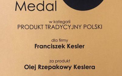 """Złoty Medal Targów natura FOOD & beECO dla """"Oleju rzepakowego Keslera"""""""